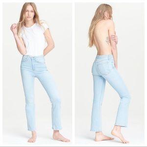 NWT rag & bone Nina High-Rise Ankle Flare Jeans